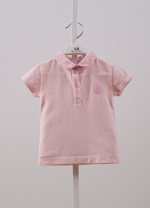 CONTRAST COLLAR SHIRT-POMEGRANATE PINK