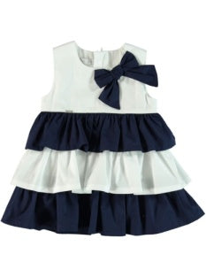NAUTICAL DRESS WITH BOW