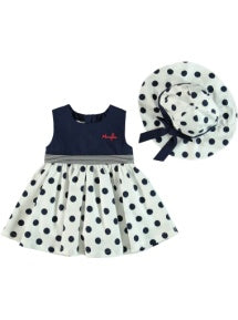 POLKA DOT DRESS +HAT