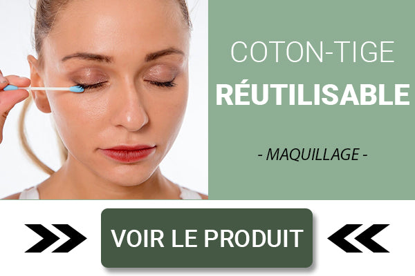 Coton tige réutilisable maquillage