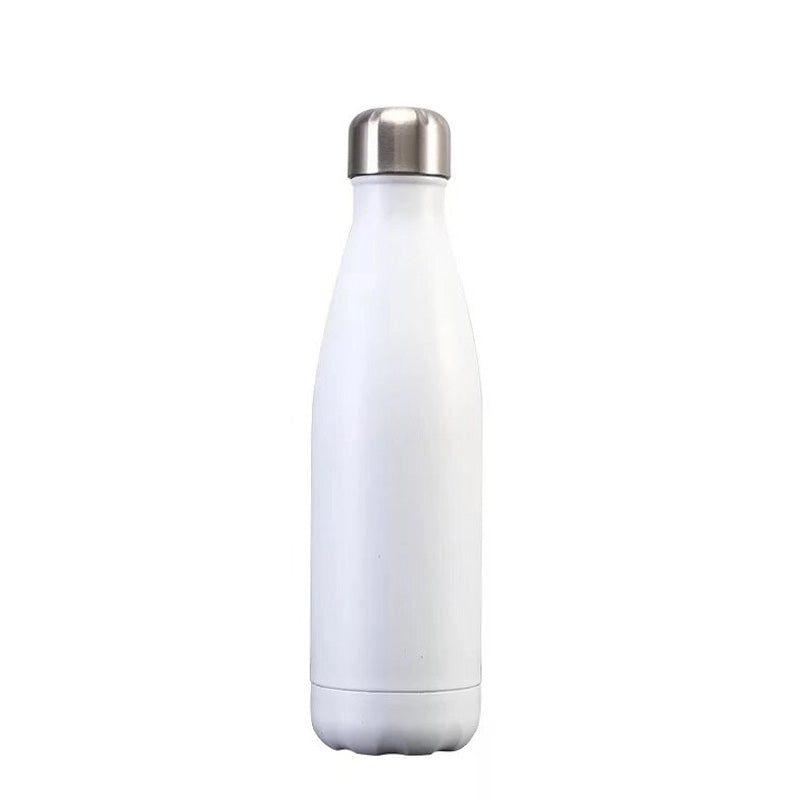 Bouteille inox isotherme blanc mat