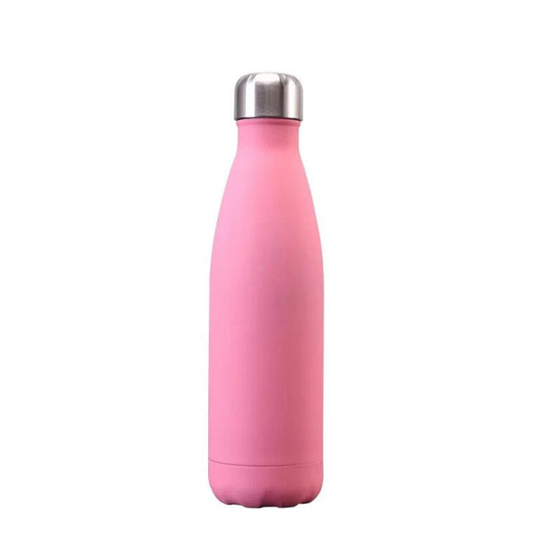 Bouteille inox rose mat isotherme