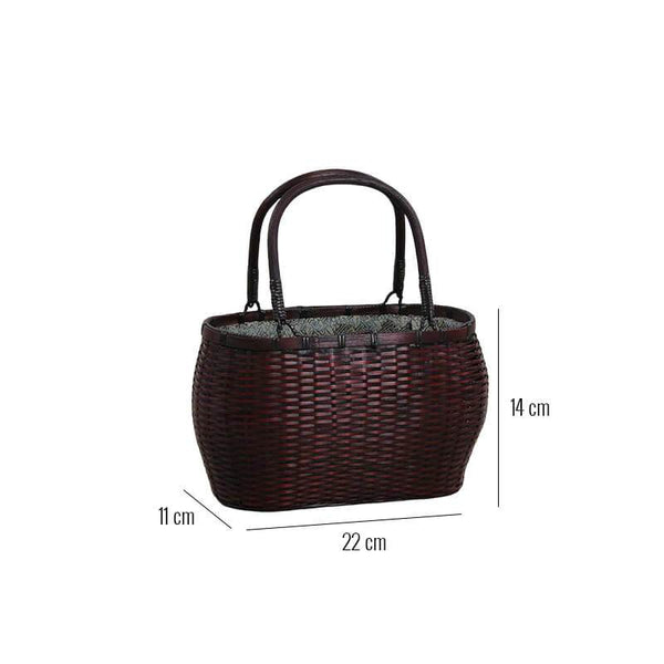 Dimensions sac à main bambou chic