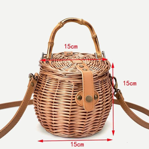 Dimensions sac panier bambou rond