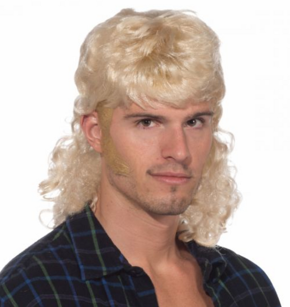 SHORT BLONDE MULLET WIG (Joe Exotic/Tiger King Wig)