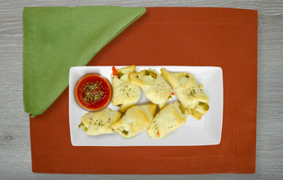 Cheesy Stuffed Garlic Butter Crescents
