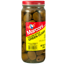 Italian Style Green (Pitted) Olives