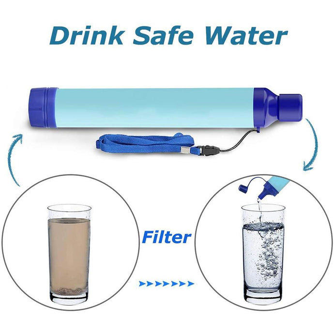 Outdoor Water Purifier Camping Hiking Emergency Life Survival
