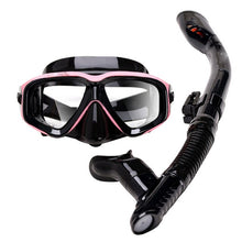 Load image into Gallery viewer, Professional Scuba Diving Mask and Snorkels Anti-Fog Goggles