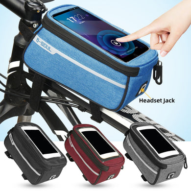 Bicycle Front Tube Bag Cycling Accessories Frame Waterproof Front Bags Cell Mobile