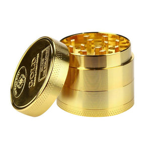 Hot Sale Alloy Herbal Herb Tobacco Grinder Spice Weed Grinders Smoking Pipe Accessories Gold Smoke Cutter Grinder