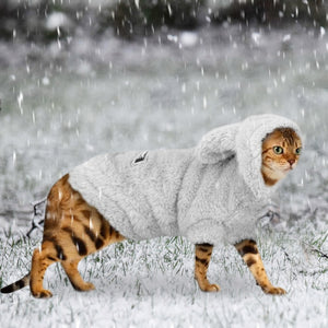 Warm Cat Clothes Winter Pet