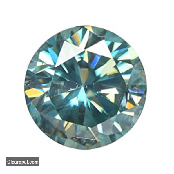 Certified Round Cut Blue Color Loose Moissanite Stone, Excellent Grade 0.25 to 1.00 Carat Moissanite For Jewelry Making