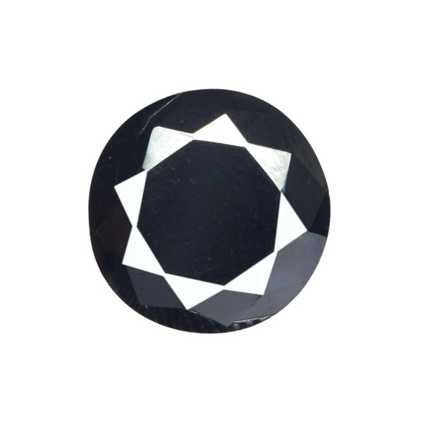 1.00 To 5.00 Carat Black Moissanite Loose Stone, Brilliant Round Cut Lab Created Moissanite for Jewelry Making