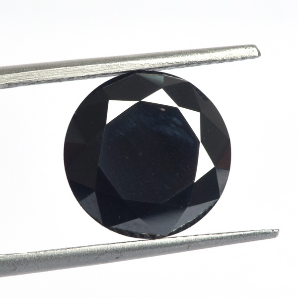Black Color Excellent Round Cut Loose Moissanite Stone, Lab Created 2.5Ct to 5.00 Ct Black Moissanite for Making Jewelry