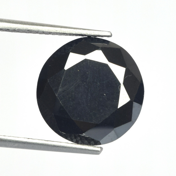 2.00Ct To 4.00Ct Black Moissanite Loose Stone, Round Cut Moissanite For Jewelry Making