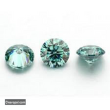 Excellent Grade Loose Blue Moissanite Stone, 1.00 to 3.00 Carat Brilliant Round Cut Moissanite Best For Jewelry