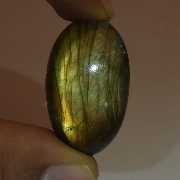 Natural Rainbow Color Labradorite Loose Gemstone 35.50 Ct. Brilliant Oval Cabochon EGL Certified Labradorite Gemstone Jewelry Making DG-494