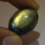 Brilliant Natural Rainbow Color Labradorite Loose Gemstone 19.50 Ct. Oval Cabochon EGL Certified Labradorite Gemstone Jewelry Making DG-514