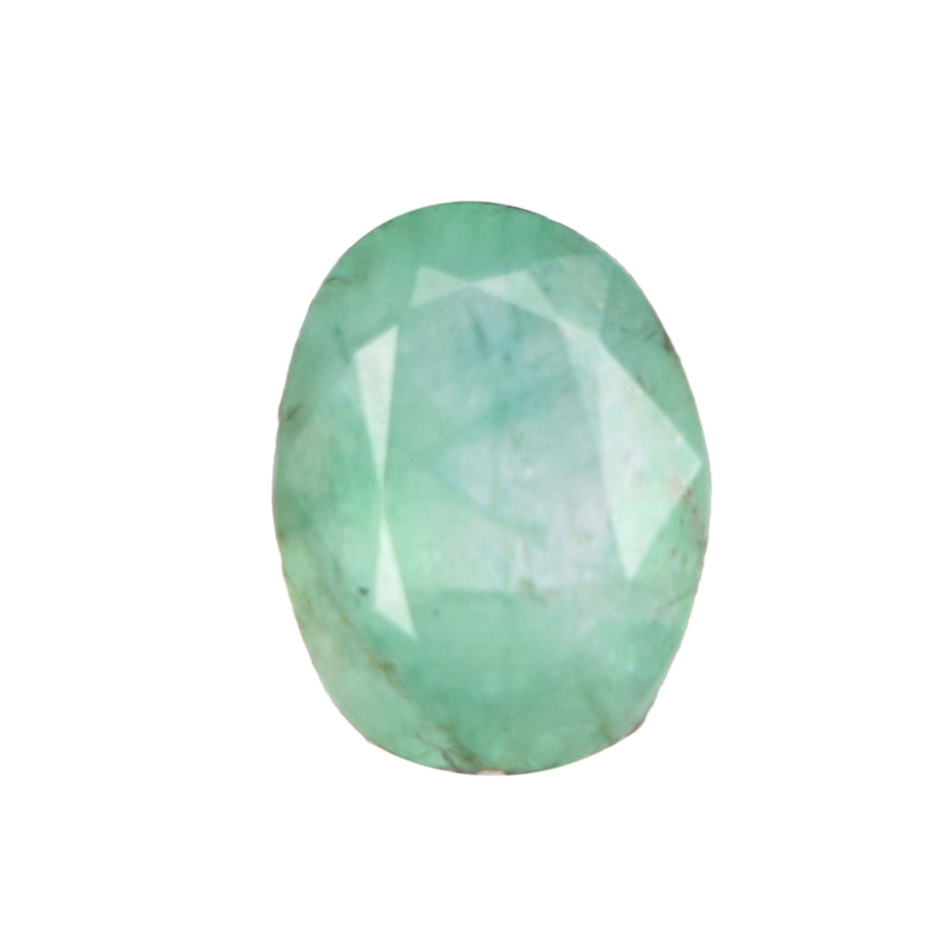 1.90 Carat Natural Green Emerald Oval Shape Loose Gemstone, Certified Faceted Emerald for Handmade Jewelry Making, May Birthstone, EN-614