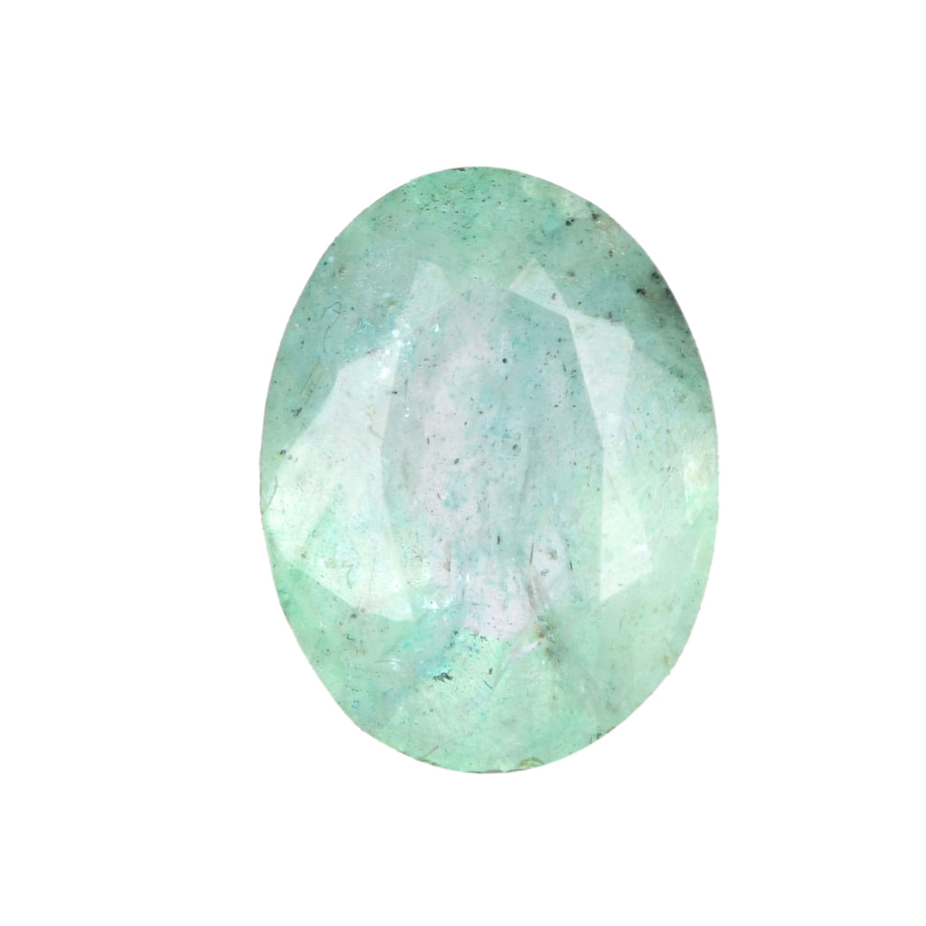 3.00 Ct 100% Natural Colombian Green Emerald Faceted Stone, Oval Shape Certified Gemstone for Making Jewelry, EN-617