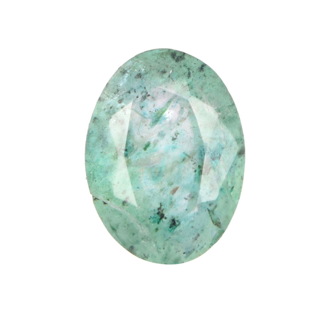 Natural Green Emerald Oval Shape Loose Gemstone, Certified Faceted Emerald Stone for Ring Jewelry Making, EN-656