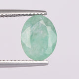2.20 Carat Natural Faceted Emerald Loose Gemstone, Oval Shape Green Emerald Gemstone for Jewelry, May Birthstone EN 658
