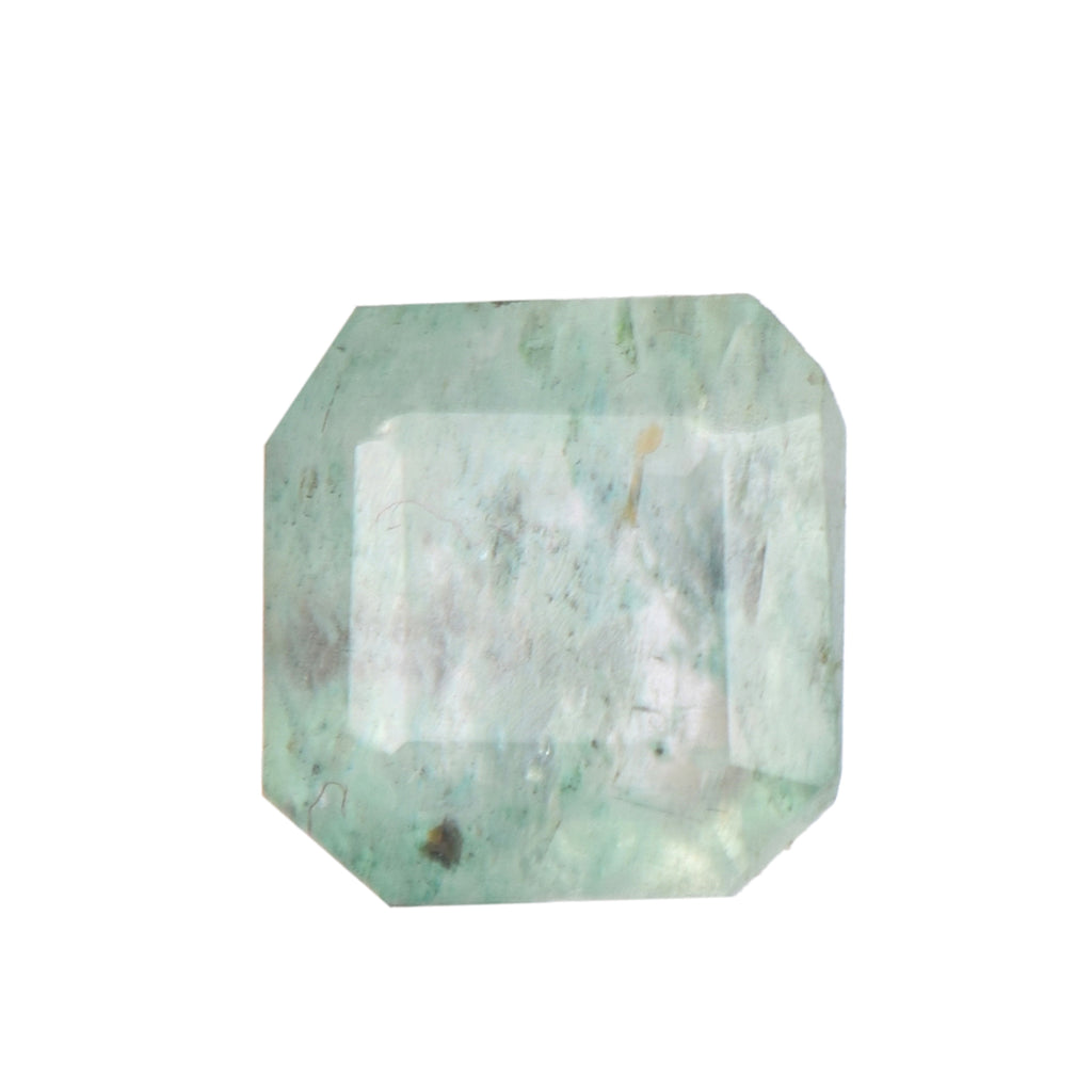 Natural Green Emerald, Square Cut Emerald, Faceted Emerald Gemstone, AAA Quality 2.50 Ct Emerald Loose Gemstone