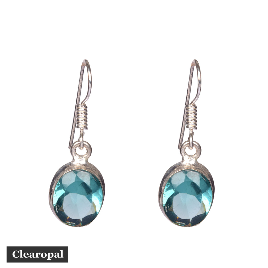 1.50 to 2 grams Aquamarine Earrings, Gemstone Earrings, Blue Earrings,