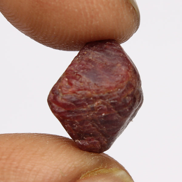 2.50 Carat. Untreated Raw Rough Red Color Spinel Stone, Egl Certified Uncut Healing Crystal Natural Red Spinel Loose Gemstone