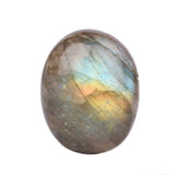 20 to 48 Carat Natural Labradorite Loose Gemstone, Certified Bi-Color Oval Cabochon Shape Labradorite for jewelry