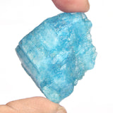 Natural Earth Mined Aquamarine 55.00 Ct Rare Raw Sky Blue Aquamarine, Rough Sky Blue Gemstone