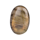 Oval Shape Labradorite Loose Gemstone, Top Quality Cabochon Bi-Color Labradorite for Making Pendant, Available Sizes-30 to 50 Carat