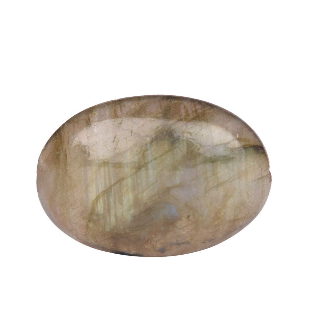 Certified Bi-Color Labradorite Natural Oval Cabochon Loose Gemstone for Making Pendant, Available Size 30 To 50 Carat