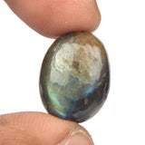 A Grade Cabochon Labradorite Loose Jewelry Gemstone, Certified Oval Shape Bi-Color Labradorite Stone, Sizes-25 to 43 Carat