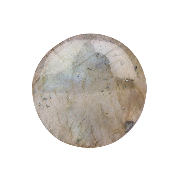 Natural Labradorite Loose Gemstone, Certified Bi-Color Round Cabochon Shape Labradorite for jewelry, Sizes-25 to 48 Carat