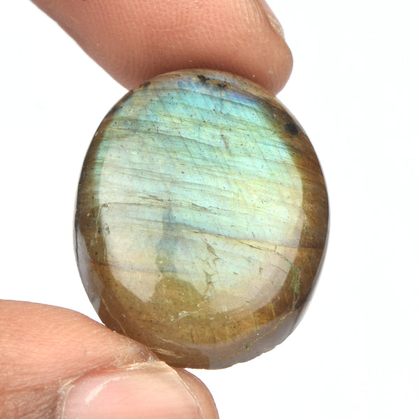 Awasome Labradorite Stone, Oval Shape Cabochon Loose Gemstone, Certified Natural Labradorite loose Stone for Stone Sizes-20 to 50 Carat
