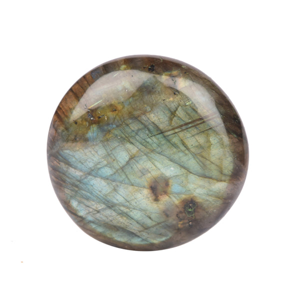 Top Quality Round Cabochon Shape Labradorite Gem, Certified Bi-Color Labradorite Loose Gemstone for Making Ring, 20 to 50 Carat Available