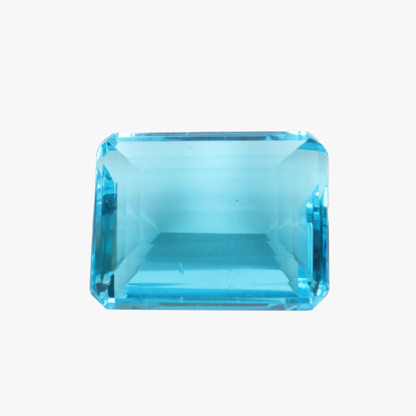 Lab Created Swiss Blue Topaz Stone - Swiss Blue Topaz Emerald Cut Stone - Jewelry Making Stone, Sizes-50 to 90 Carat