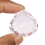 30 To 70 Carats Pink Topaz Loose Gemstone, Faceted Pear Shape Topaz for Pendant Jewelry Making