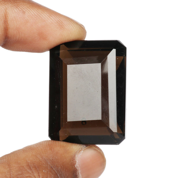 30 to 50 Carat Amazing! Smoky Topaz Gemstone, Emerald Shape Faceted Topaz, Beautiful Topaz Loose Gemstone Best For Jewelry