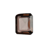 Lab Created Smoky Quartz Loose Gemstone, Brown Color Emerald Shape Stone for Ring & Pendant Jewelry Making, Multiple Sizes to Choose-20 to 50 Carat