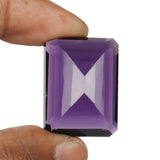Violet Amethyst 40 to 70 Carat Emerald Cut Loose Stone, Faceted Very Beautiful Amethyst February Birthstone
