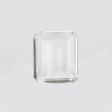 20 To 50 Carat Emerald Shape White Topaz Faceted Gemstone, AAA+ Quality Lab Created White Topaz for Making Pendant Jewelry