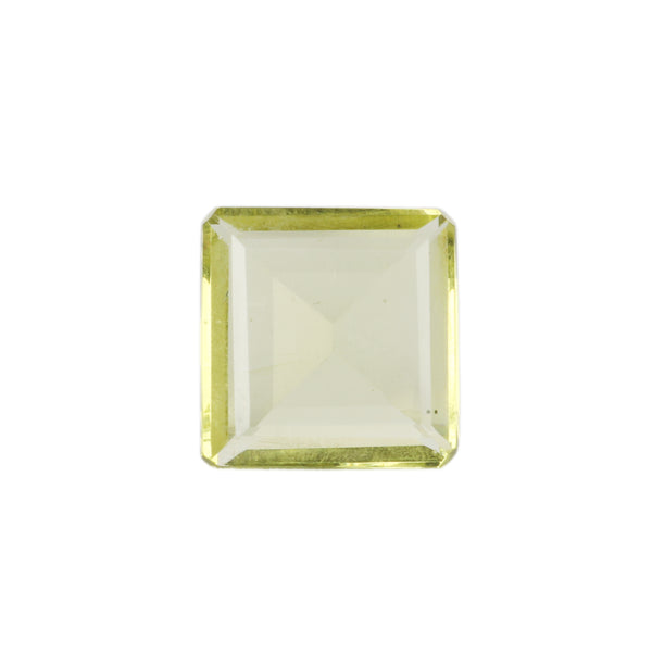 Citrine Faceted Loose Gemstone, Square Shape Stone, Citrine Jewelry Making Stone, Sizes-30 To 80 Carat