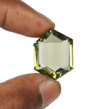 Green Amethyst Faceted Loose Gemstone, Lab Created Translucent 20 to 30 carat Amethyst Stone