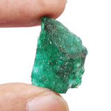 A Grade Natural Raw Rough Green Emerald 27.00 Ct Healing Crystal Rough Emerald Stone for Cabbing