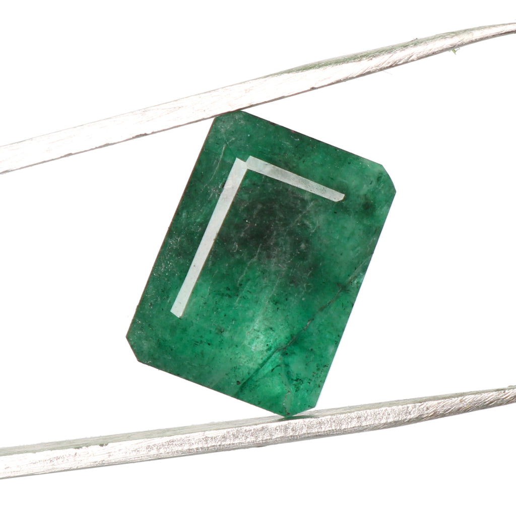Natural EGL Certified Green Emerald Loose Gemstone, 6.50 Ct. Emerald Cut Green Emerald Loose Gemstone For Ring LD-258