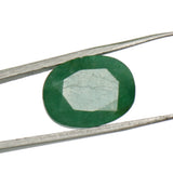 Natural Green Emerald Loose Gemstone, 8.00 Ct. Oval Cut Certified Green Emerald Loose Gemstone For Ring LD-599