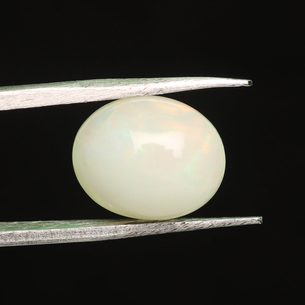 Natural Oval Cabochon White Opal Loose Gemstone, 2.50 Ct. EGL Certified White Opal Gemstone For Jewelry Making LD-5